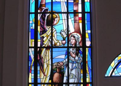 Vitral da Anunciação - Projeto realizado pela Kingdom vitrais