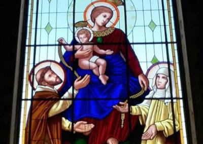 Vitral Nossa Senhora do Rosário -  - Projeto realizado pela Kingdom vitrais