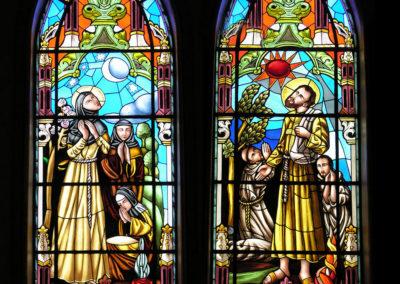 Vitral Santa Clara e São Francisco - Projeto realizado pela Kingdom vitrais