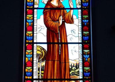 Vitral de São Francisco - Projeto realizado pela Kingdom vitrais