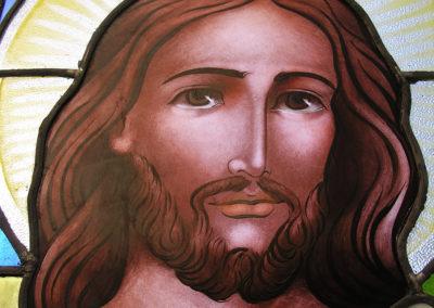 Vitral com figura de Jesus